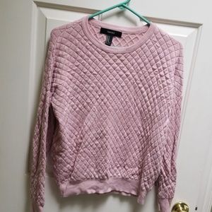 Forever 21 quilted pink sweater medium